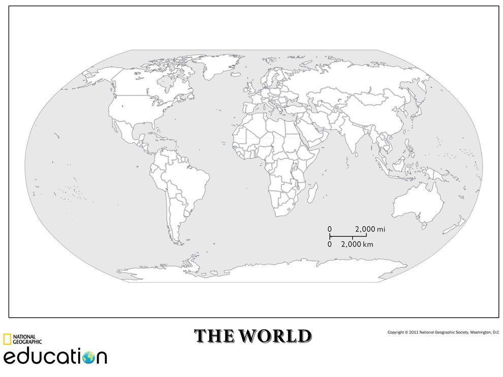 δημιουργώντας χάρτες Httpwwwnationalgeographicorgeducation - World physical map blank