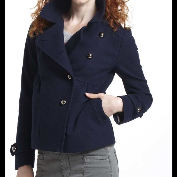 Navy pea coat Navy pea coat from Anthropologie. It has