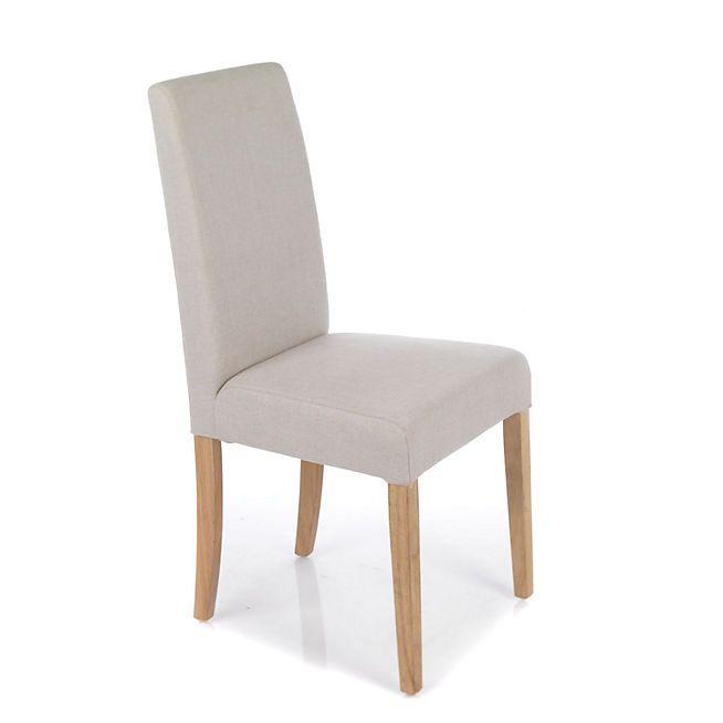 Monroe chaise avec housse beige d houssable housses - Alinea chaise salle a manger ...