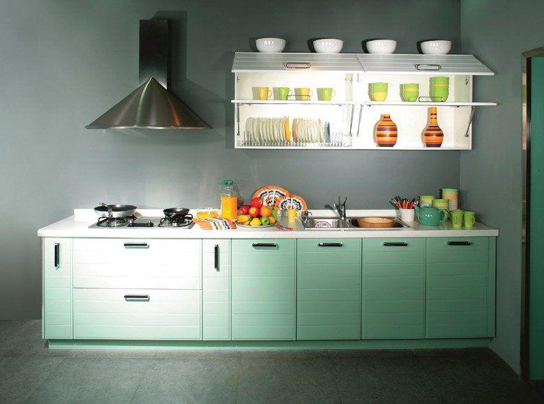 Gemütliche Und Schicke Kleine Küche Schrank Design Küche Sicherlich Ist  Ausgestattet Mit Tisch Plus .