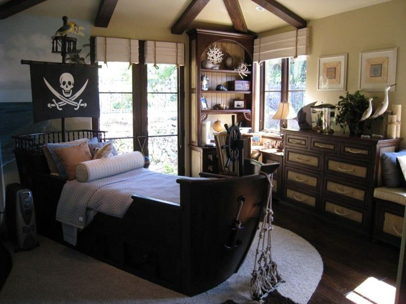 Bedroom Pirate Ship Kids Bedroom Dark Color Floating Bed Overboard With The Floating Ship Little Boy Bedroom Ideas Pirate Room Boys Room Decor