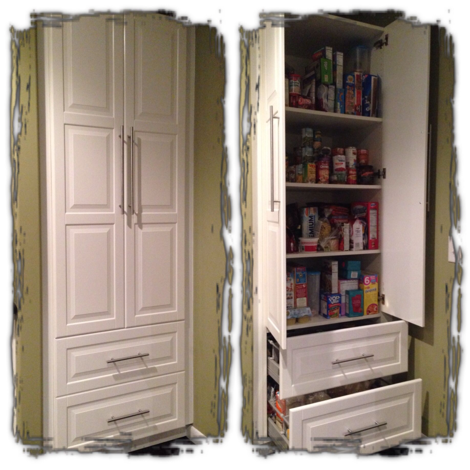 IKEA Akurum base used as a pantry. (With images
