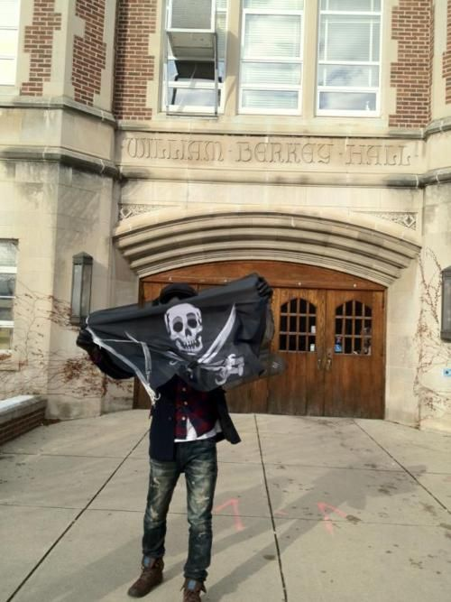 [Occupied] William Berkey Hall, States   by Cap'm @Shindogy        Make your own Flag, visit  http://thepirateflag.tumblr.com