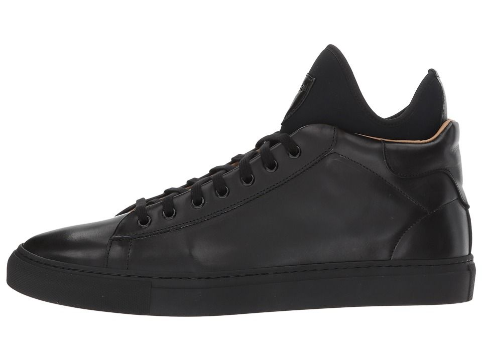 a. testoni Mid Cut Sneaker Men's Lace up casual Shoes Nero