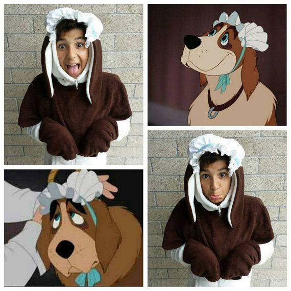 Upcycled Peter Pan Costume Nana Dog Costume Hooded Head Piece