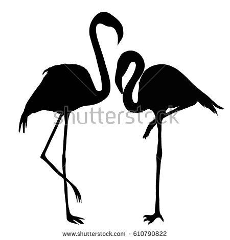 Window Wall Vehicle Display Flamingo Bird Silhouette Decal Vinyl Sticker Craft