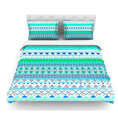 East Urban Home Emerald Chenoa by Nika Martinez Featherweight Duvet Cover Size: King, Fabric: Woven Polyester