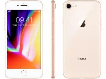 Iphone 8 Apple 64gb Dourado 4g Tela 4 7 Retina Cam 12mp Selfie 7mp Ios 11 Magazine Gatapreta Iphone 8 Iphone Celulares Mais Vendidos