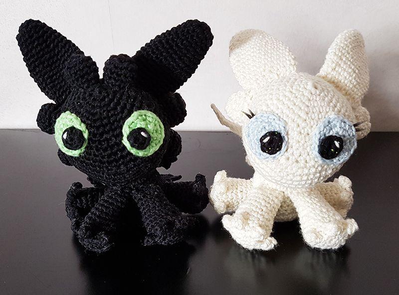 Night & Light Fury : Dragon 3 / Amigurumi / Crochet ...