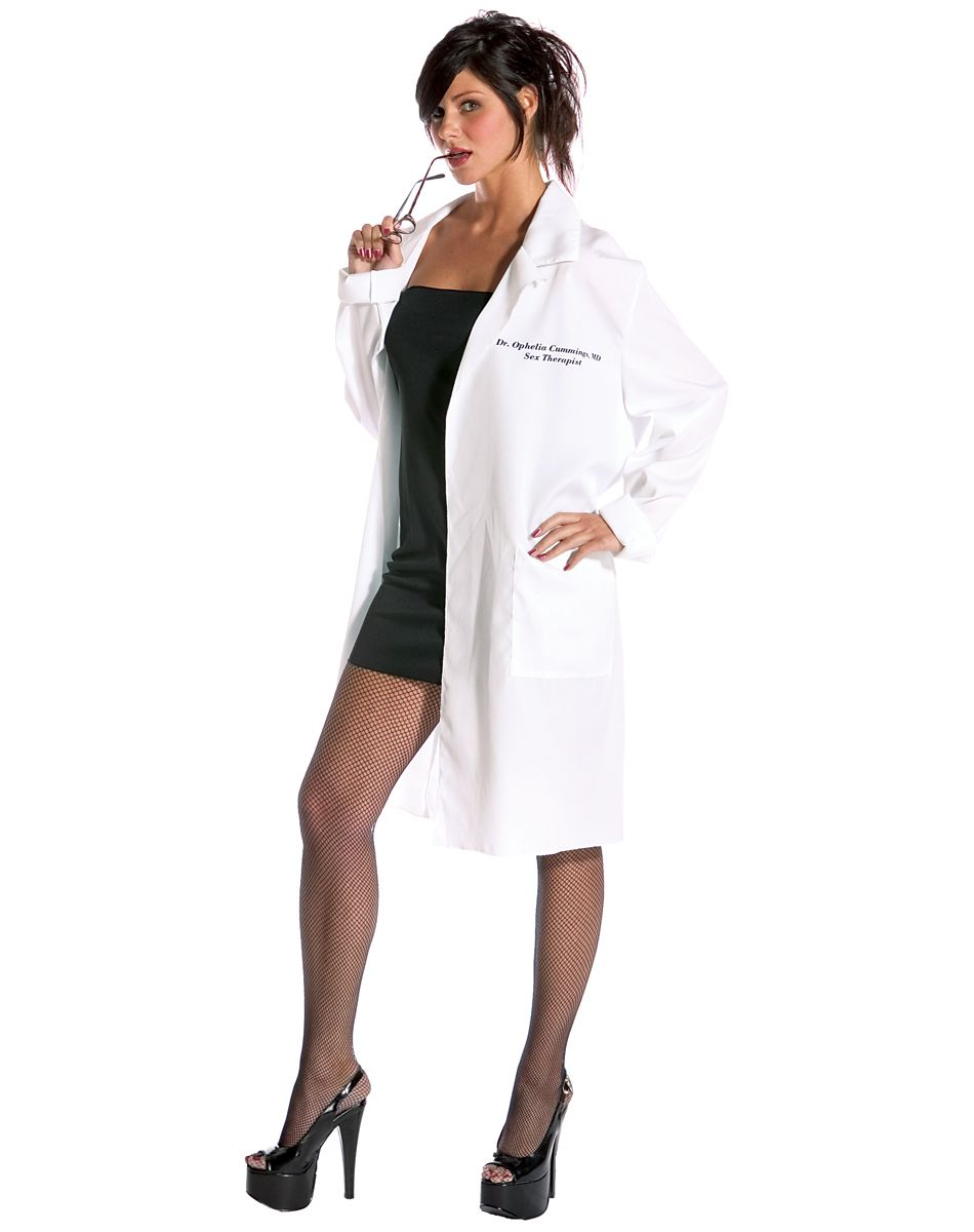 22Dr. Ophelia Cumming Lab Coat Adult Womens Costume – Spirit ...