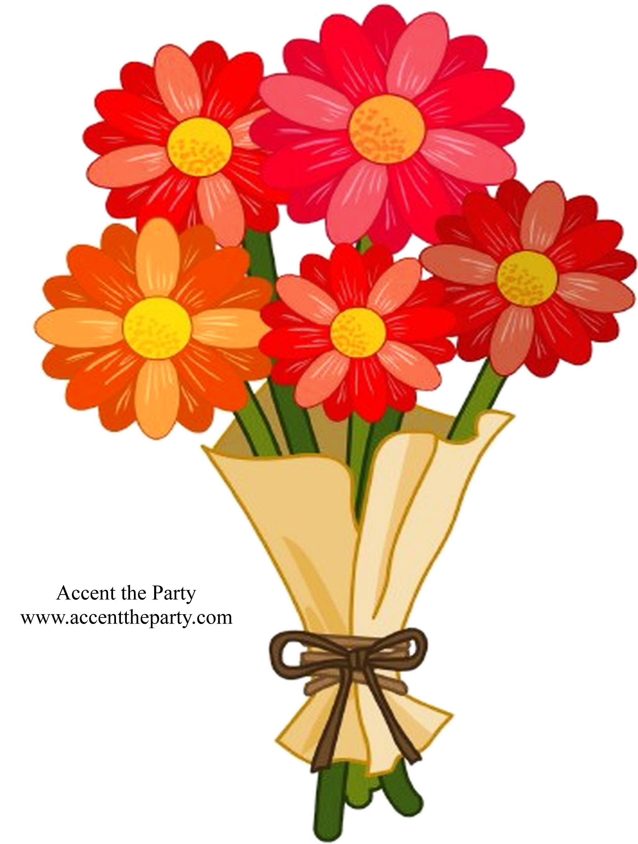 Clipart butterfly 3 butterfly images clip art 1920 1600 jpeg - Clip Art Of A Bouquet Of Red Daisy Flowers Wrapped In Brown Paper With Seo And Internet Marketing Is The Best Combination