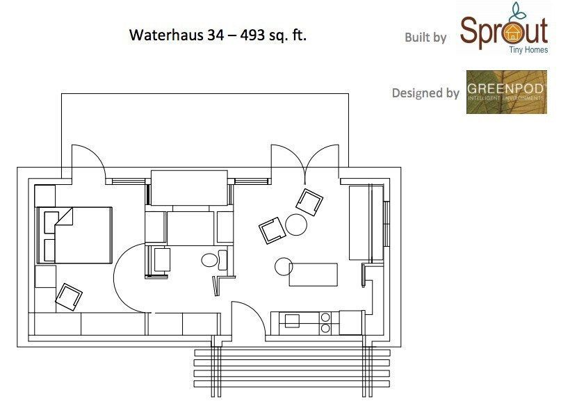 450 Sq Ft Waterhaus Prefab Tiny Home 0023 With Images Small