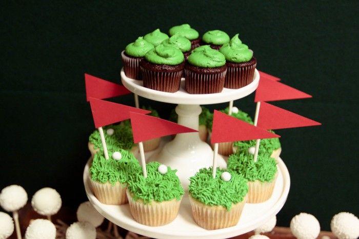 Microsoft 50th Birthday Golf Themed Dessert Table   Jenny Cookies