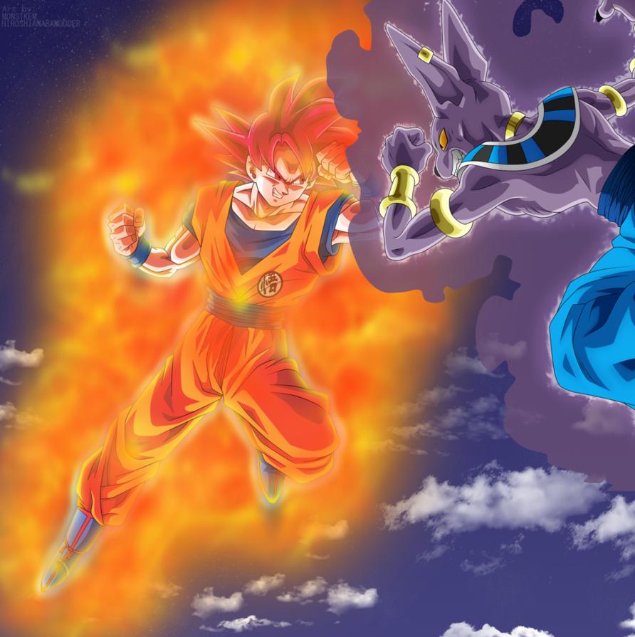 Goku Vs Bills Poster By Hiroshiianabamodder Goku Vs Goku Goku Vs Beerus