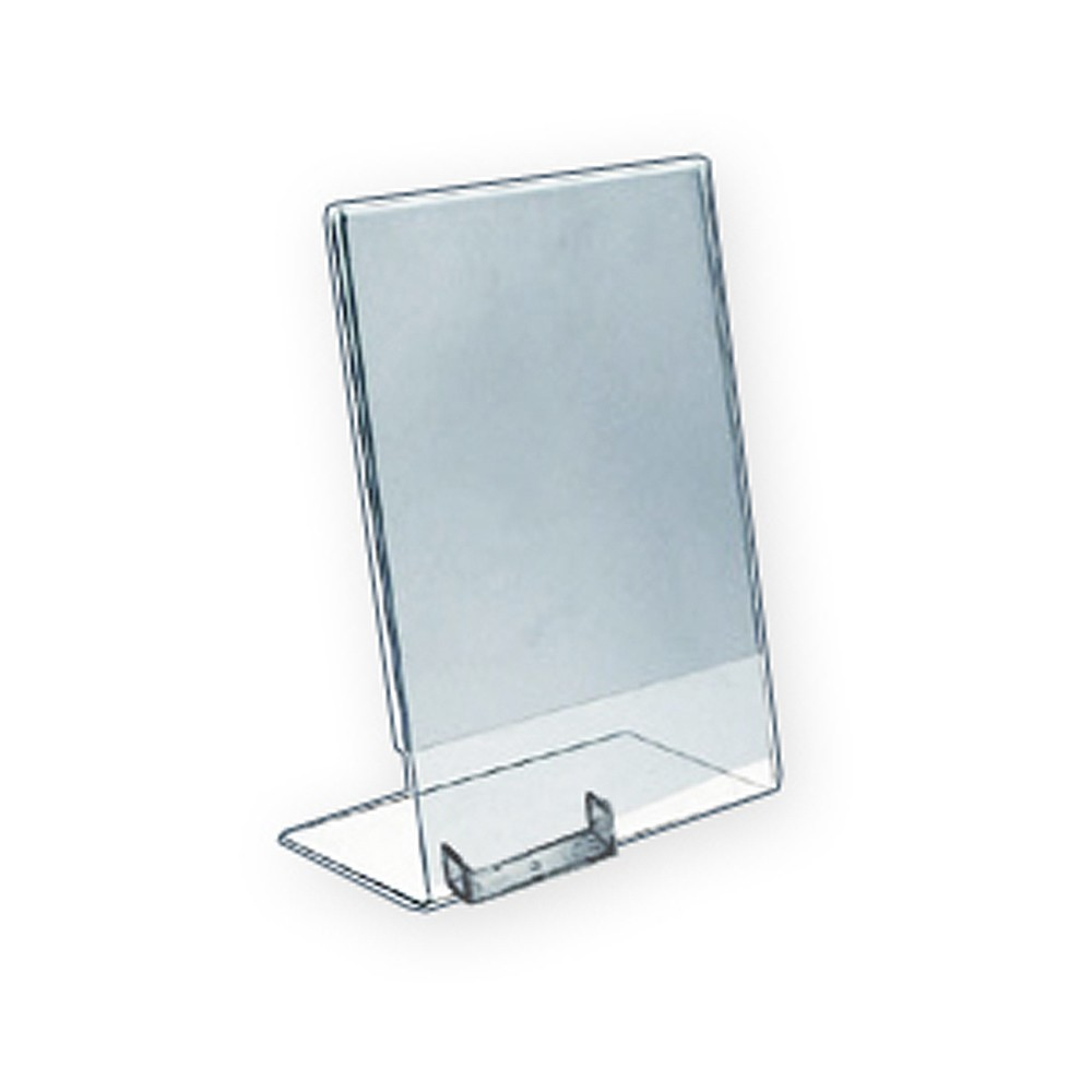 Azar 85 x 11 lshaped acrylic sign holder with attached