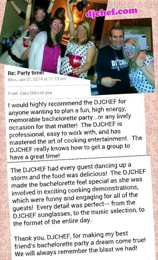 Dj Chef Bachelorette Party Best Ideas Cooking Bride Bridal Shower Wedding Long Island Ny Hamptons Nj New Jersey