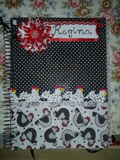Caderno de angolinha tecido
