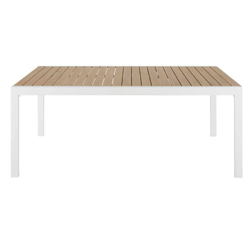 Table De Jardin Extensible En Aluminium Imitation Teck 8 Personnes