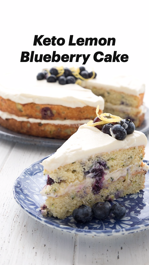 Keto Lemon Blueberry Cake