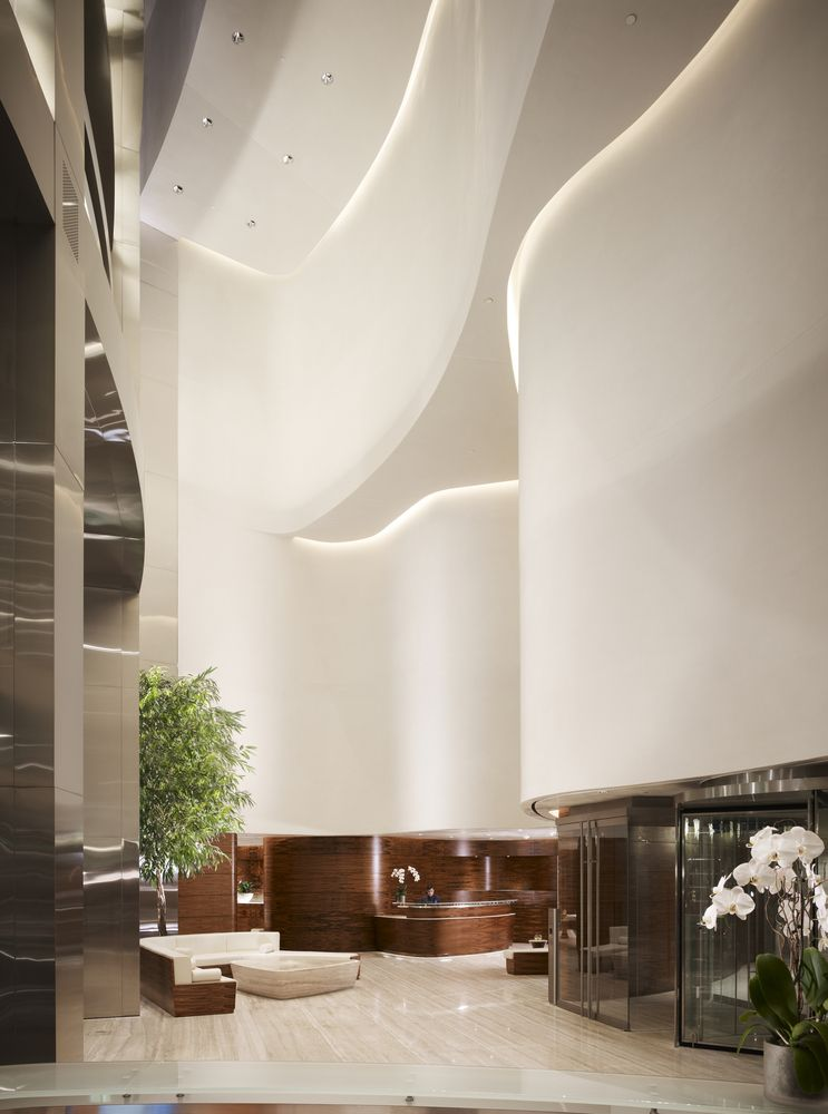 Gallery Of Burj Khalifa Som 37 With Images Lobby Design
