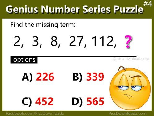 5 Number Series Puzzles that will blow your mind – Genius ...