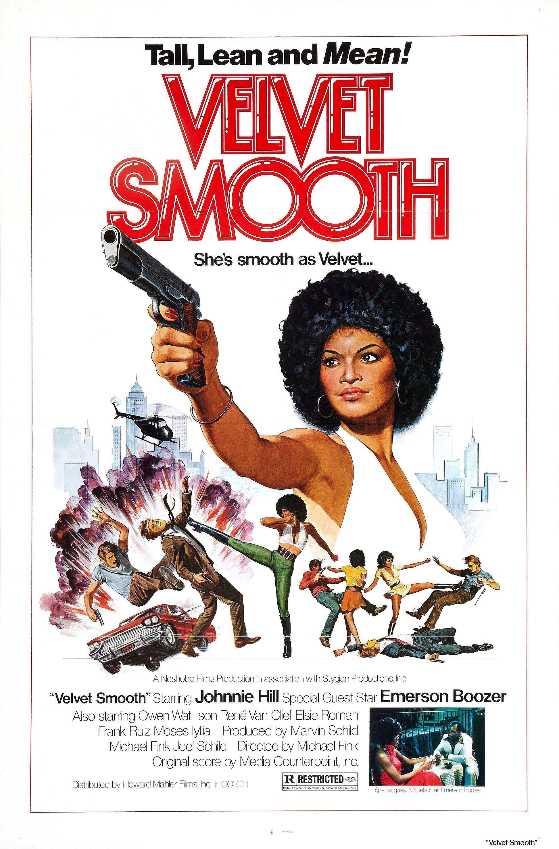 Velvet Smooth 1976 Movie Posters Blaxploitation Film Movie Posters Vintage