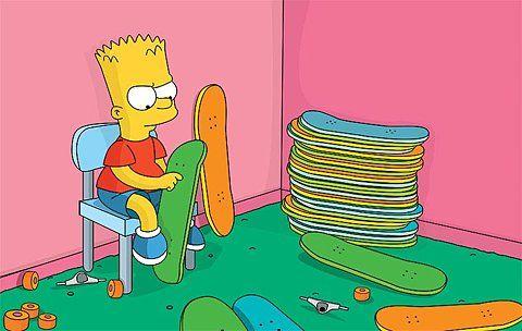 Bart Simpson Skateboarding Wallpaper 31412