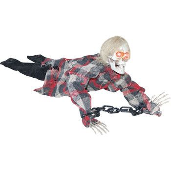 Halloween Prop Animated Reaper in Chains 18\ - animated halloween decorations