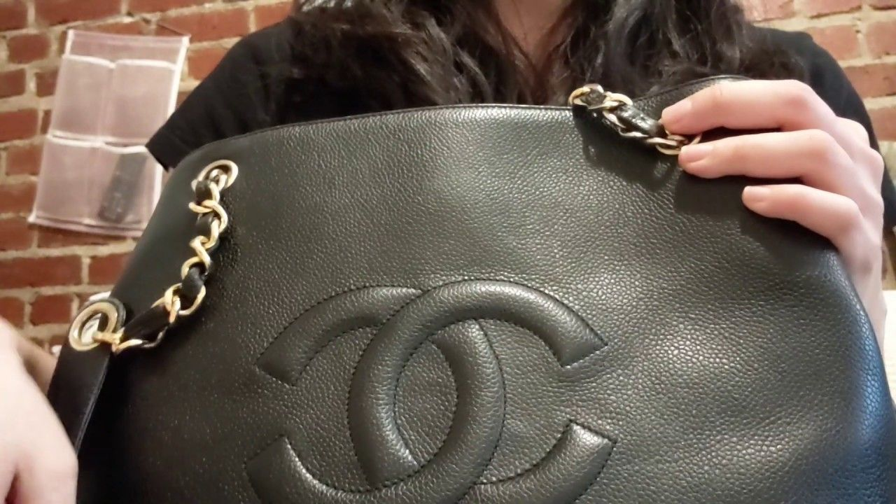 7b90c92034e4 Hi all! This is a review on my Chanel Timeless tote and a before ...