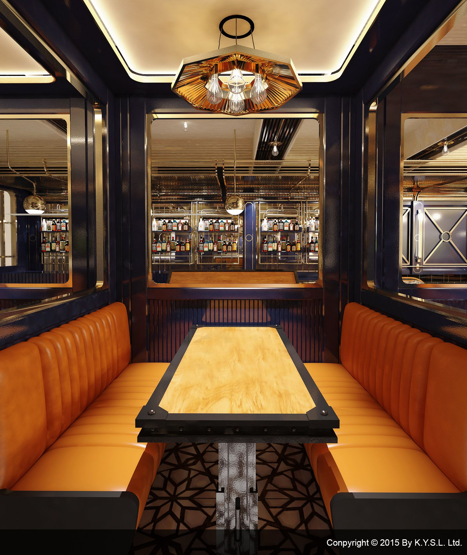 Platform 8 designed by K.Y.S.L. Ltd. An art deco restaurant & Bar ...