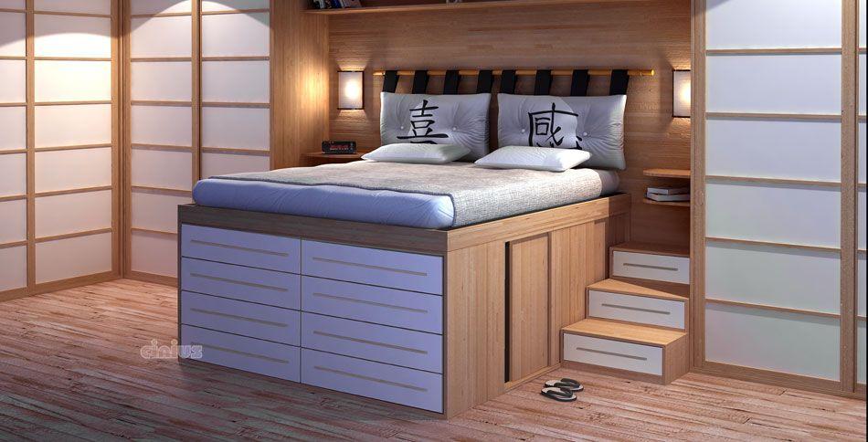 Letto salvaspazio con cassettiera letto contenitore in for Salvaspazio camera
