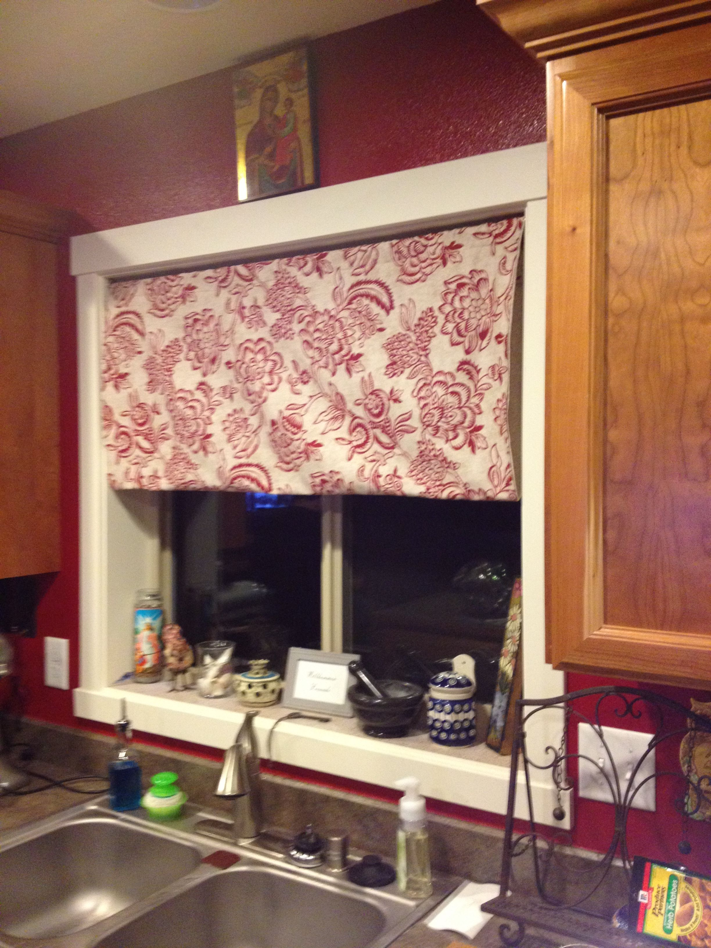 Roman Shade Tension Rod Curtain Crafts Completed