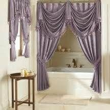 Double Swag Shower Curtains Purple Curtains Double Swag Shower
