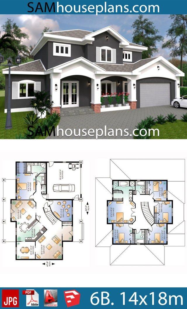 House Plans 14x18 With 6 Bedrooms Plan Maison Maison Hopital