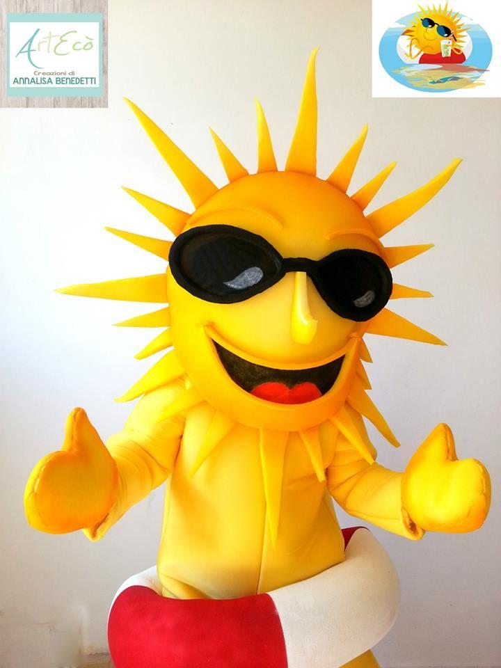 """Sun """"Sunny"""" Mascot for Camping Italia - Viareggio - by ArtEcò Creazioni di Annalisa Benedetti #artecocreazioni #annalisabenedetti #style #stylist #handmade #madeinitaly #mascot #sun #sunny #camping #summer #fantasy"""
