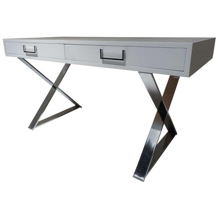 Fashionable White Campaign Desk
