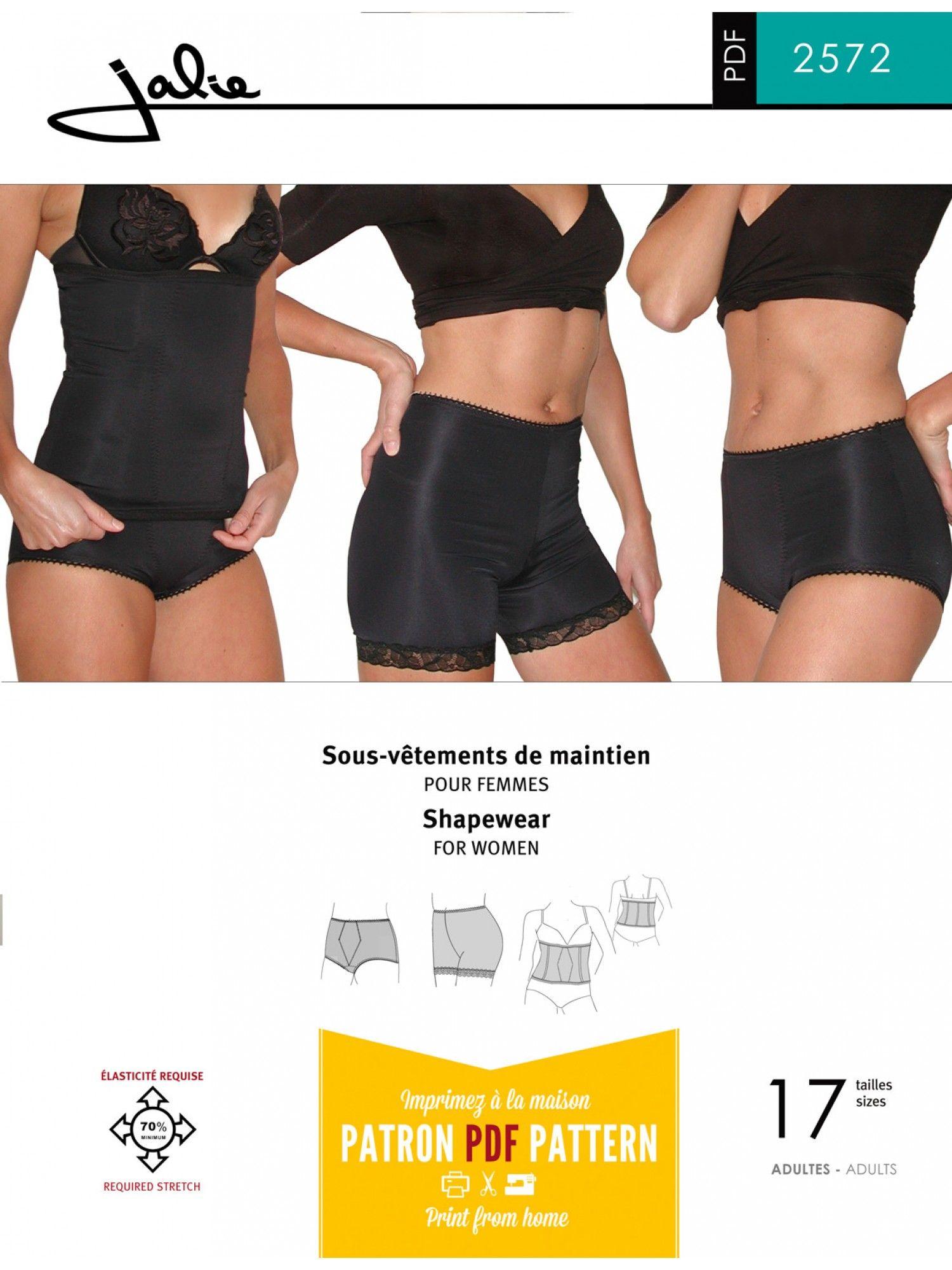 Jalie 2572 - Women\'s Shapewear - Sewing Patterns | DIY Fashion ideas ...