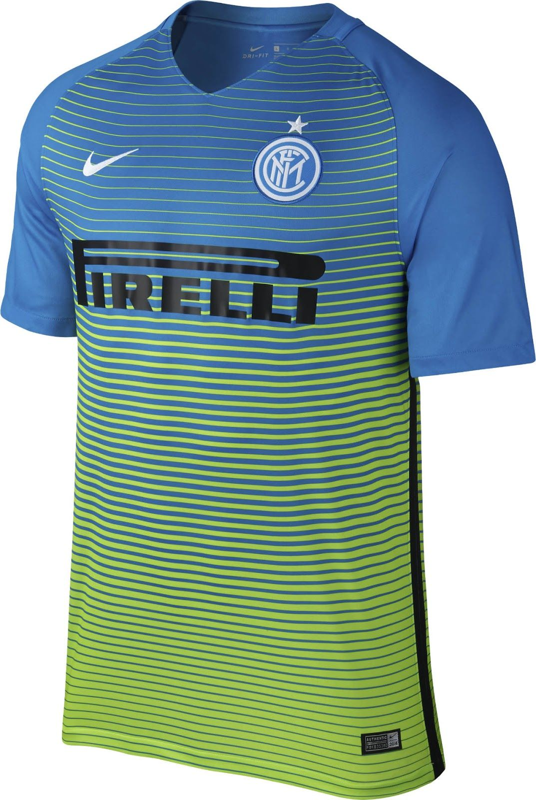 2a4a83486 The new Nike Inter Milan 16-17 third kit introduces a bold look in lime  green…