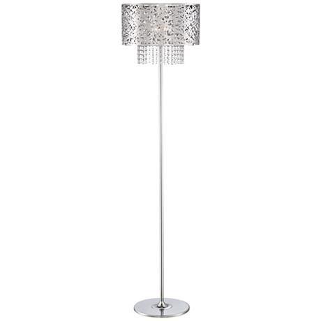 Possini Euro Chrome Nest Crystal Chandelier Floor Lamp Crystal Floor Lamp Chandelier Floor Lamp Lamp
