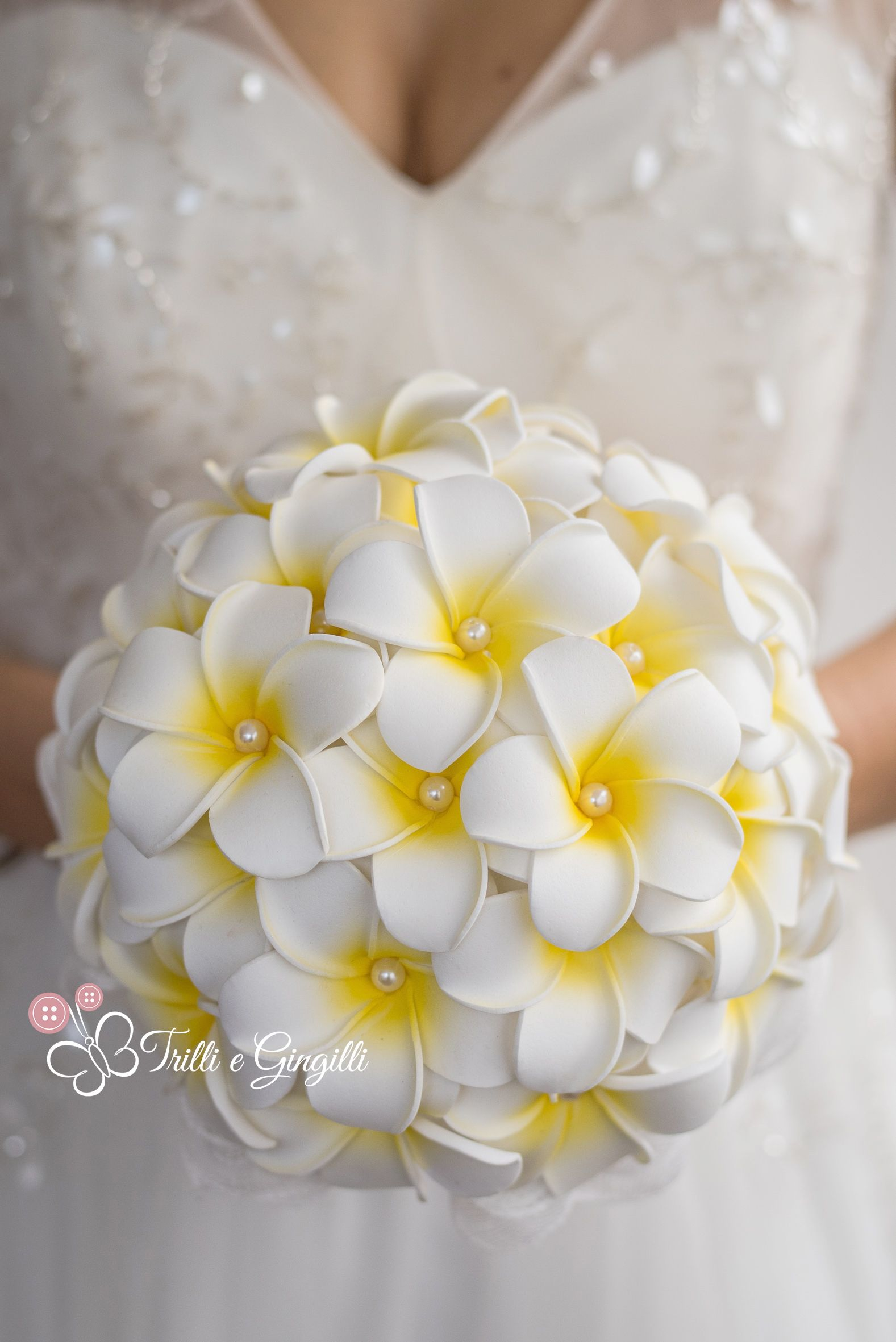 Bouquet Yellow Frangipani Plumeria By Trilli E Gingilli Prom Flowers Bouquet Wedding Bouquets Sets Flower Bouquet Wedding