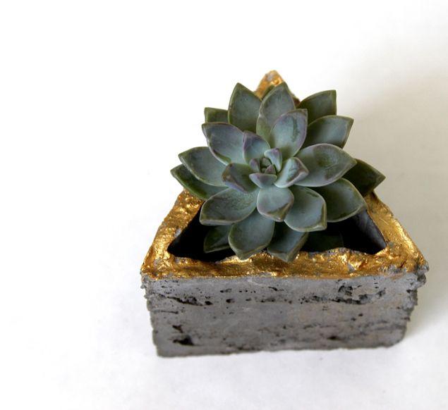 Diy Make Concrete Planters A Piece Of Rainbow Concrete Planters Concrete Succulent Planters Wall Planter