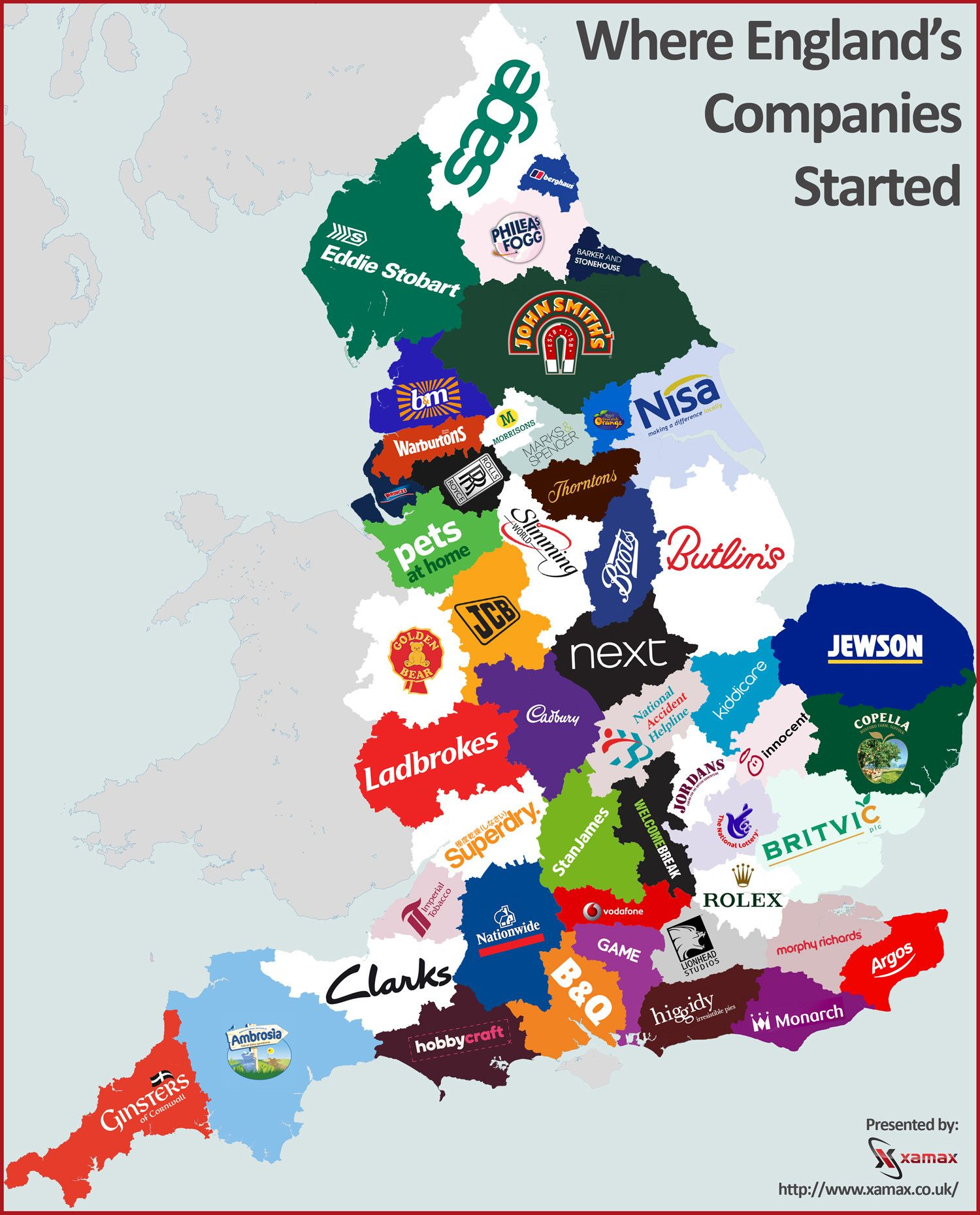 Uk Company: Where England's Companies Started #infographic