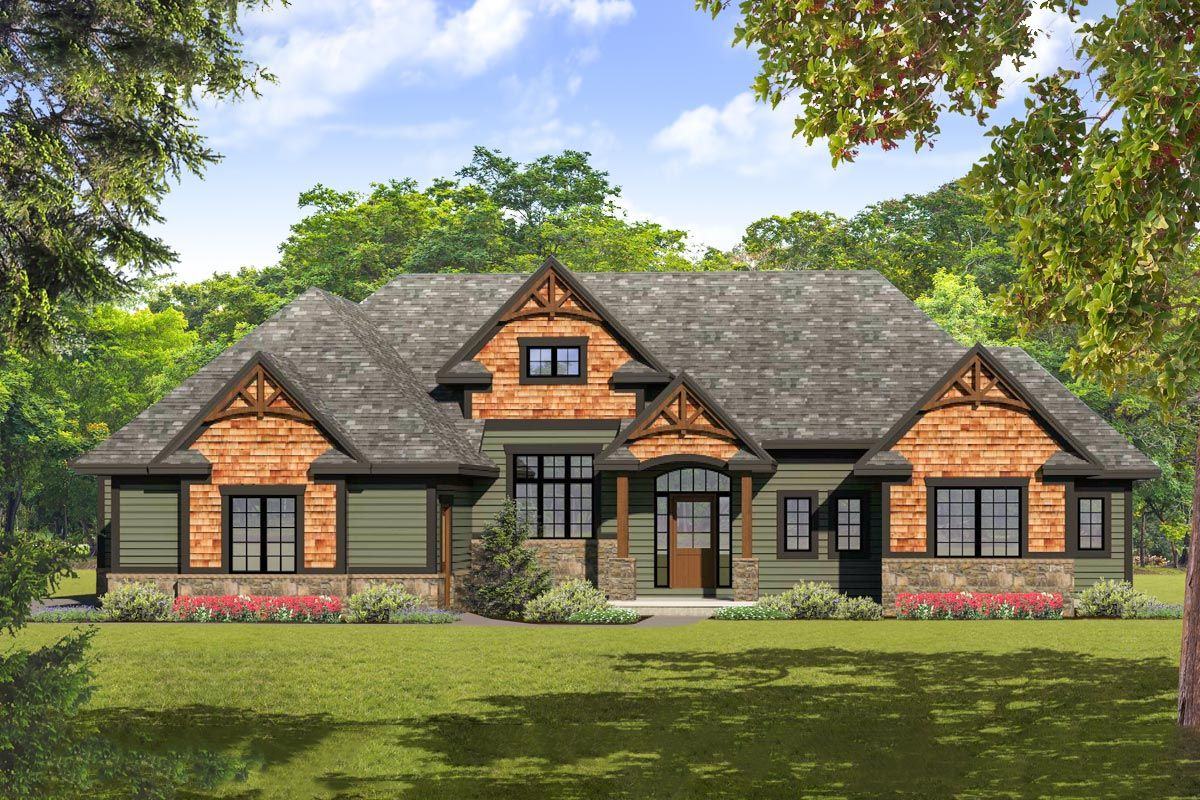 Plan 790014glv Open Concept Craftsman Home Plan With Split Bed Layout Craftsman House Plans Ranch Style House Plans Craftsman House