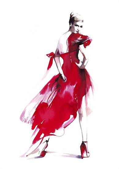 페트라 두프 코바 (패션 일러스트 레이터) - 패션 그림 그리기 및 프리젠 테이션