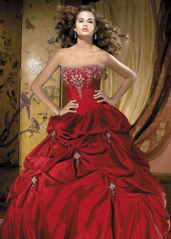 This is soooo pretty.  But where does a married woman wear a red wedding dress?