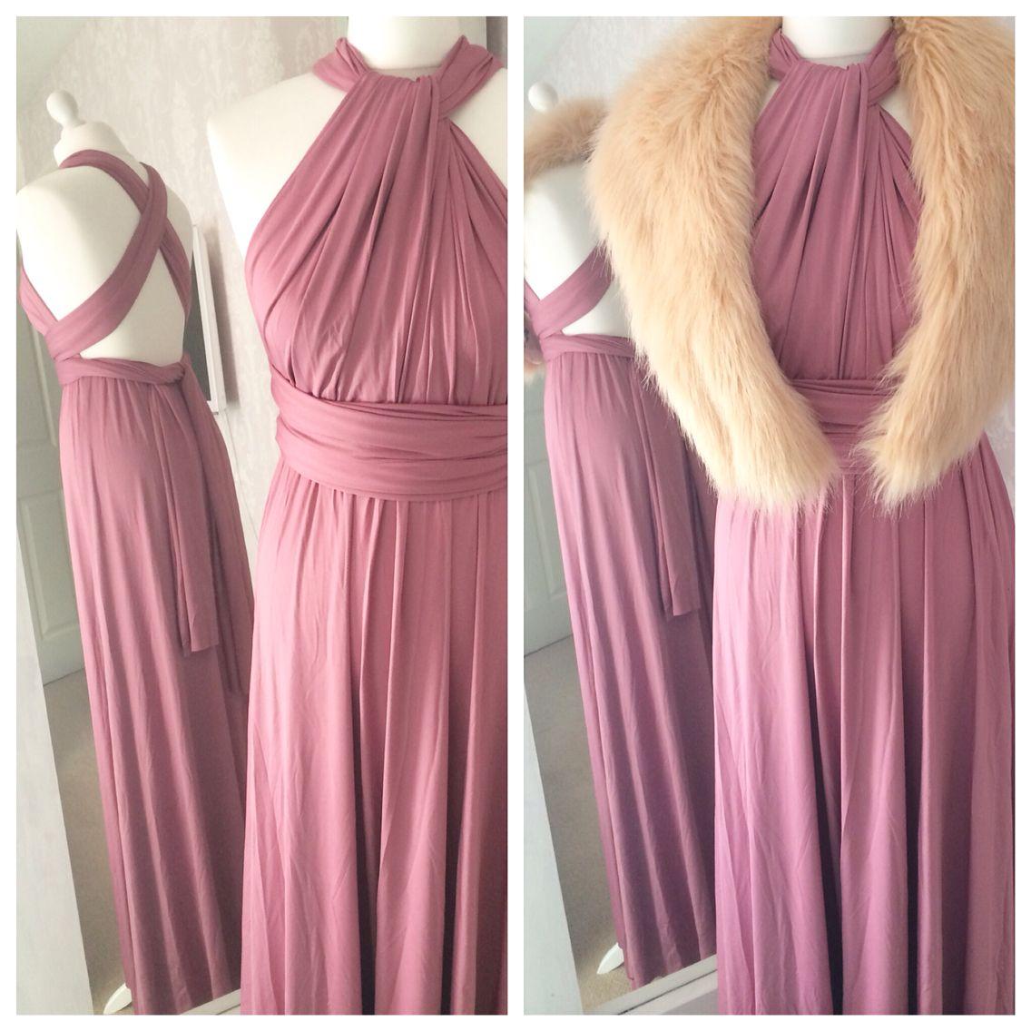 Mauve Instagram VictoriaLouDresses Multiway dress Infinity dress ...