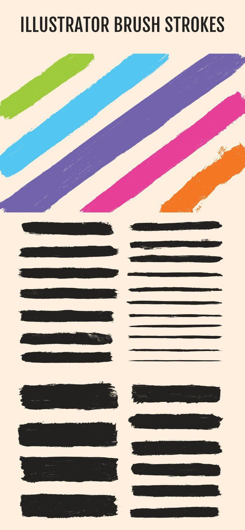 Illustrator Brush Strokes Brush strokes, Illustration