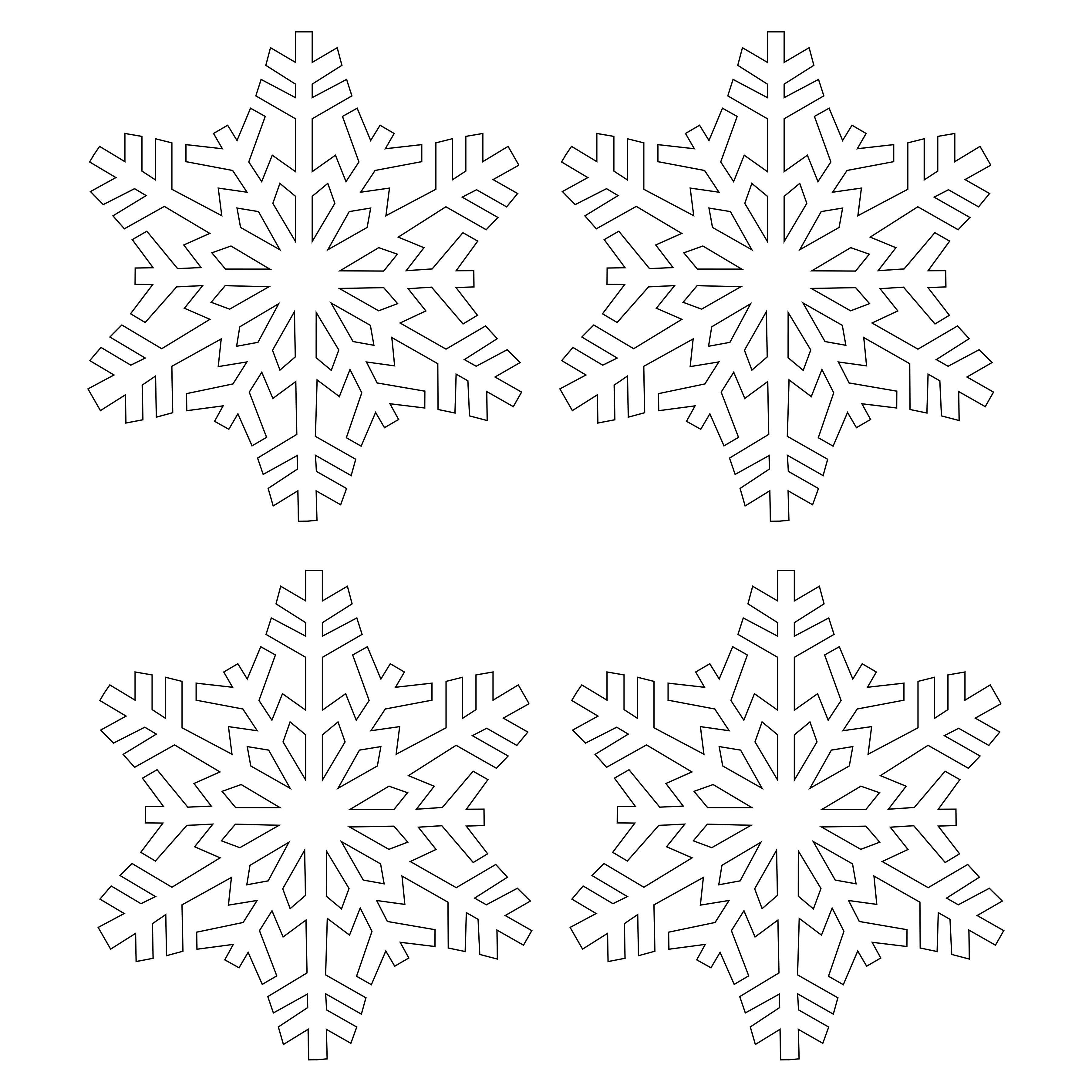 Classic Snowflake .SVG File Digital Download Svg
