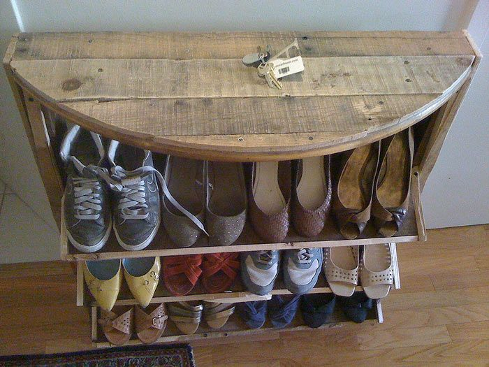 Entryway Shoe Storage...and A Great Place To Throw Your