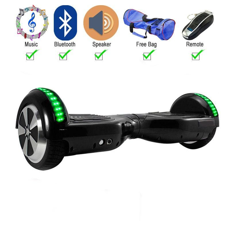 Black 65 inch hoverboard two wheel electric scooter with